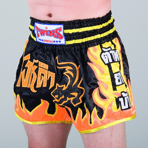 "TWINS  Shorts ""Flamme  sw-gelb-rot"""