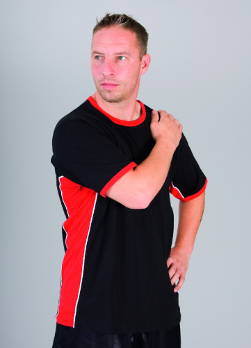 Panel Team-Shirt schwarz-rot