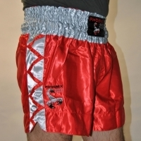 BUDO's FINEST Thaibox-Shorts - rot-silber